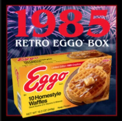 vintage box EGGO STRANGER THINGS Eleven/'s waffles SOLO SCATOLA PROPS