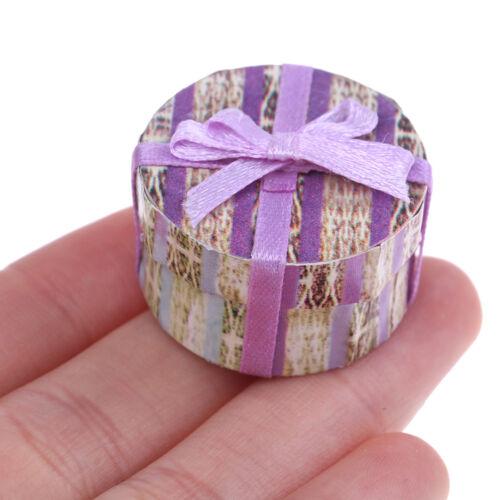 1:12 Bowknot gift box present box for dolls house room garden festival decor Cx