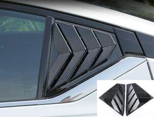 FIT For Nissan Altima 2019 Carbon Fiber Side Vent Window Scoop Louver Trim 2PCS