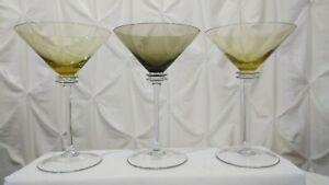 Set-of-3-Oversize-Tall-Retro-Stem-Colored-Cosmo-Martini-Glasses-2-Yellow-1-Amber