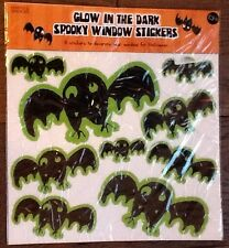 New M&S Marks Spencer Glow in the Dark Spooky Halloween Window Stickers - 9 Bats