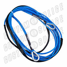 "25' x 1/4"" AmSteel-Blue ATV SXS Extension Synthetic Winch Rope Line 2 Thimble"