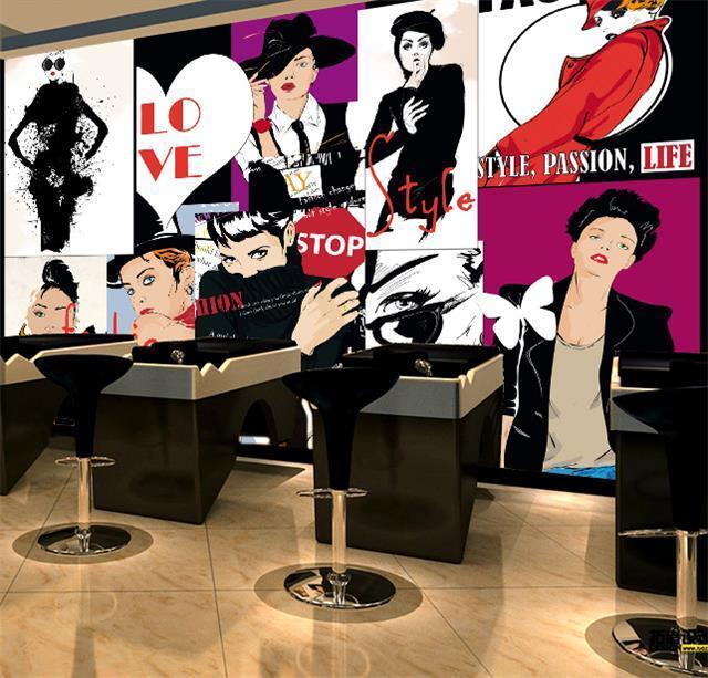 3D Love cartoon woman fashion Wall Paper Wall Print Decal Wall AJ WALLPAPER CA