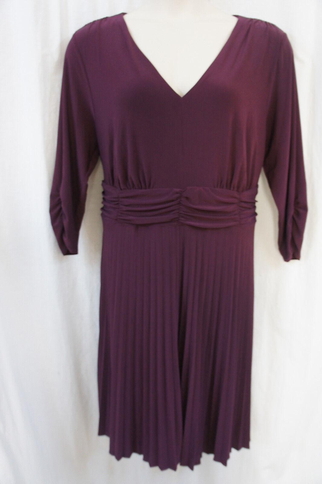 Ny Collection Damen Kleid Sz-18 Lila 3 4 Ärmel Business Cocktail Abend