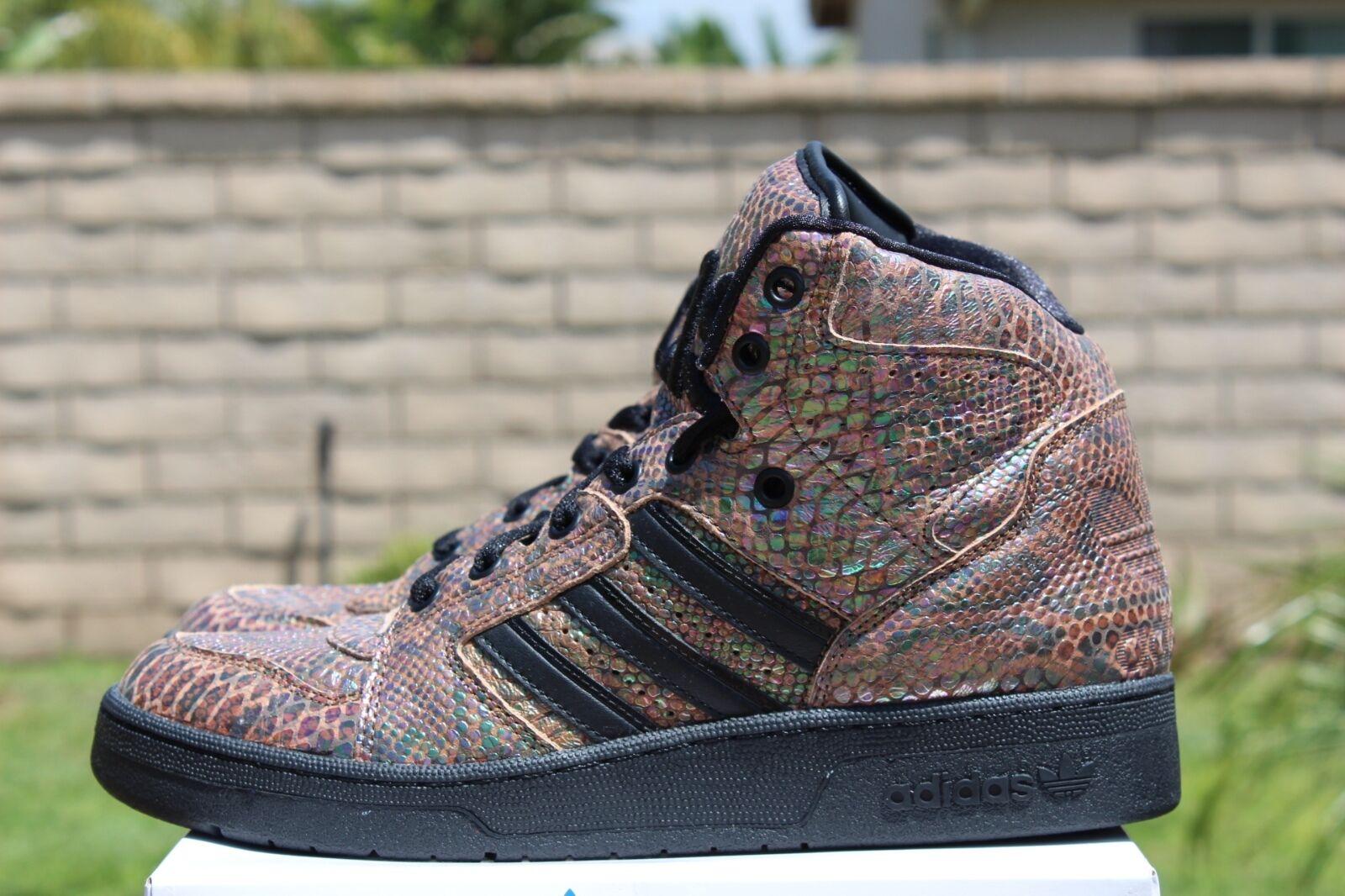 Adidas 4.5 obyo js jeremy scott instinkt - sz 4.5 Adidas schlangenhaut regenbogen schwarz g95753 b91b43