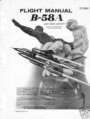 Convair B-58 Hustler Aircraft Flight Manual Archive Bomber 550+ pages 1969