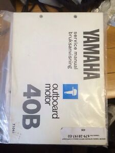 Details about Genuine 40B Yamaha Outboard Service Manual 40HP Twin Cylinder  (679)