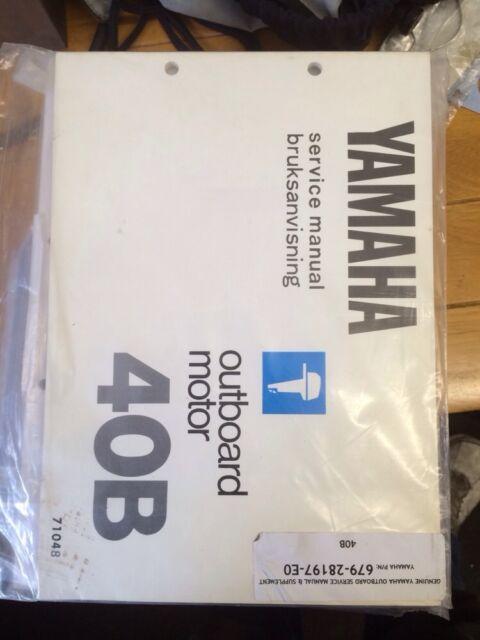 genuine 40b yamaha mariner outboard service manual 40hp 2 stroke rh ebay co uk 20 HP Mariner Outboard Mariner 25 HP Outboard