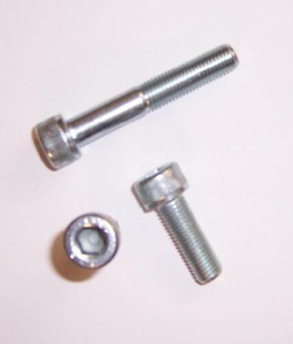 2St verzinkt mit Feingewinde M12x1,5x60 Zylinderschrauben DIN 912//12.9 galv