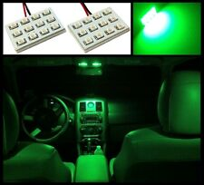 2 Super green 12 LED interior dome map light SMD panels Xenon bulbs HID lamp #A4