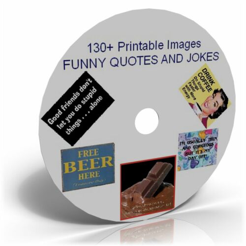 CARD MAKING FUNNY QUOTES /& JOKES  IMAGES CD ART CRAFT