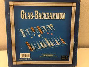 Glas Backgammon Spiel Brettspielklassiker Gesellschaftsspiel Ebay