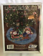 National Yarn Crafts Latch Hook Kit Santa Tree Skirt 33 Sleigh Christmas CH871