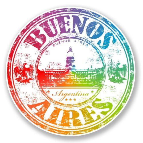 2 x Buenos Aires Argentina Vinyl Sticker Laptop Travel Luggage Car #6658