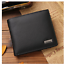 100/% Genuine Leather Men/'s Wallet Short Passport Cover Fashion Purse Card Holder