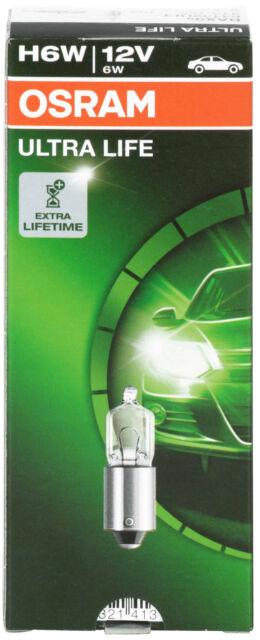 10x h6w luz de lectura interior Blink Park posición lámpara OSRAM ultra Life 64132ult