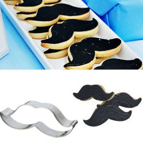 Pastry Cake Decor Biscuit Mold Cookies Cutter Stainless Steel Beard Mustache