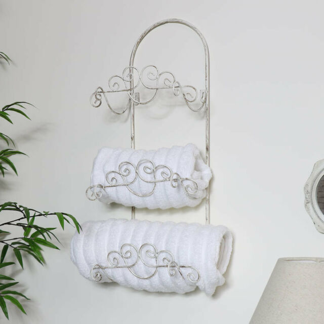 Towel Rail Holder Basket Storage Shabby