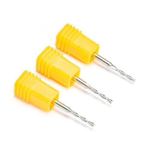 "5pc SHK 3.175mm 1//8/"" Spiral DOWN Cut Two Flute Carbide Cutter CNC Cutters 2x12mm"