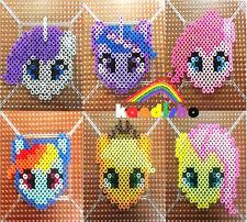 My Little Pony perler necklace hama sprite