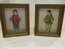 Antique Still Life China Doll Paintings pair Signed V C Hoyt b.1880 Framed