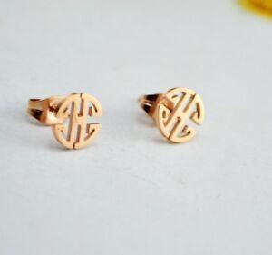 18K-Gold-Karat-Ohrringe-Rosegold-Asian-Style-Damen-Kinder-vergoldet-Earrings-25