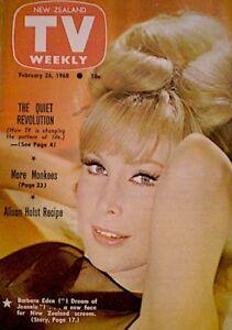 TV-Guide-1968-I-Dream-Of-Jeannie-Barbara-Eden-International-TV-Weekly-NM-MT-COA