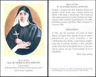HOLY CARD SANTINO IMAGE PIEUSE - Suor M. PASQUALINA ADDATIS, serva di Dio