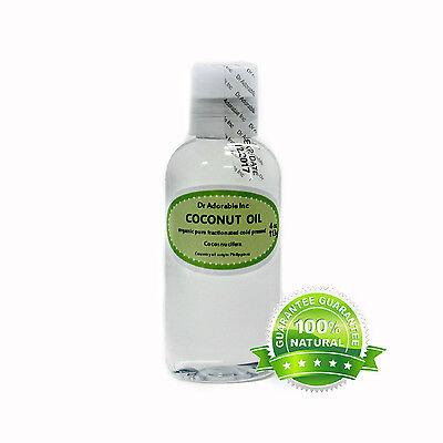 ORGANIC FRACTIONATED COCONUT OIL COLD PRESSED PURE 2 oz 4 oz 8 oz  QUART GALLON