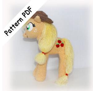 Applejack My Little Pony Inspired Pattern Pdf Read Description Ebay