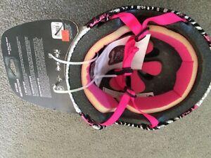 New NWT Raskullz Glam Gear Kids Bike Helmet Sequins Zebra Pink Leopard Girls