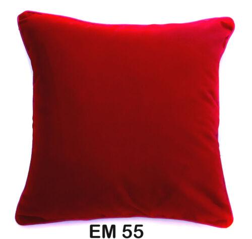 Mb+9 Soft Flat Velvet Style Plain Color Cushion Cover//Pillow Case Custom Size
