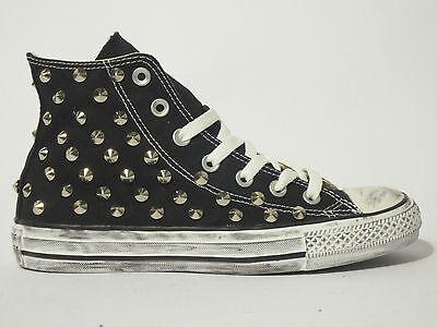 Converse all star Hi borchie scarpe donna uomo sneaker NERO Artigianali   eBay