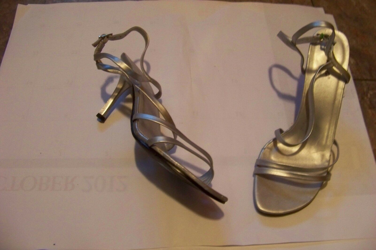 womens herstyle silver 11 strappy heels shoes size 11 silver 2c5b14