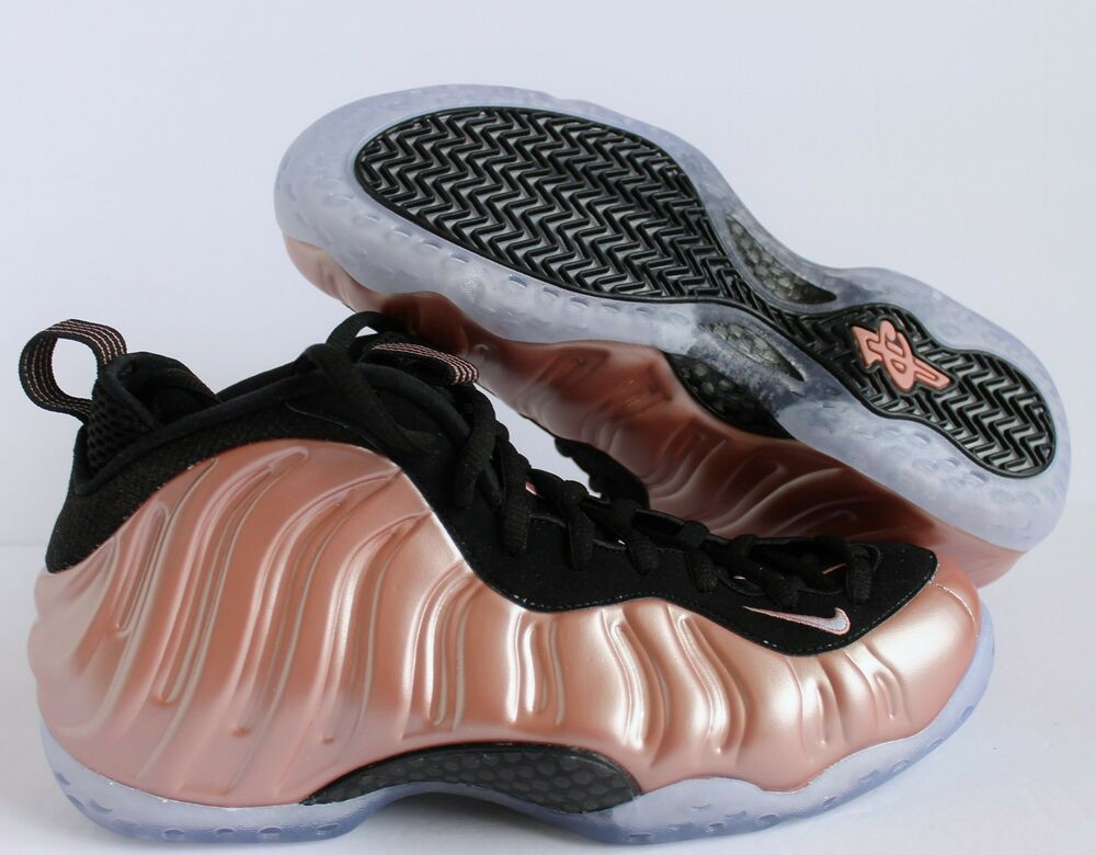NIKE homme AIR FOAMPOSITE ONE RUST PINK-blanc-noir SZ 9 [314996-602]