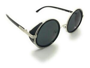 e6e5d317a4d6 New Vintage Retro Mirror Round SUN Glasses Goggles Steampunk Punk ...