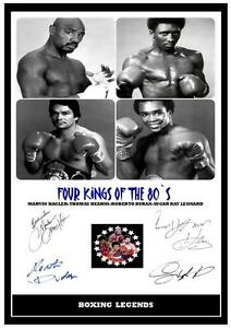 ##56 anthony joshua /& the rock  boxing signed a4 photograph reprint great gift