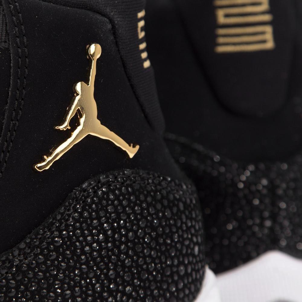 Nike Air Jordan XI 11 GOLD Black Retro 8Y OVO 12 Wings GG 852625-030 Men's Sz 8