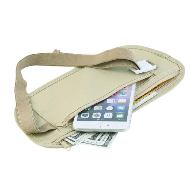 Reise Bauchtasche Hüfttasche Gürtel Reißverschluss Geheimtasche Security Bag
