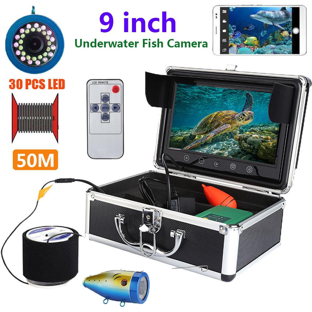 Cámara de video 50m 9  1000 TVL Buscador De Peces Lcd Monitor de pesca submarina Pro