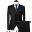 miniature 15 - Mens Suits Sets 3 Pcs Slim Fit Coats Tuxedos Groom Groomsman Formal Work Casual