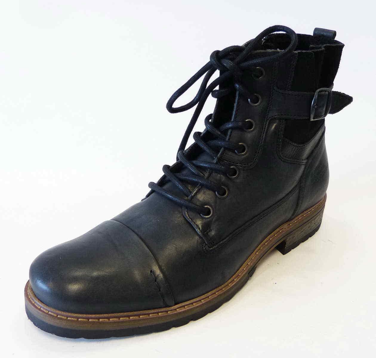 Bullboxer Stiefel Stiefel grau 285K84158A P844 Trend Reißverschluß Schnür schwarz