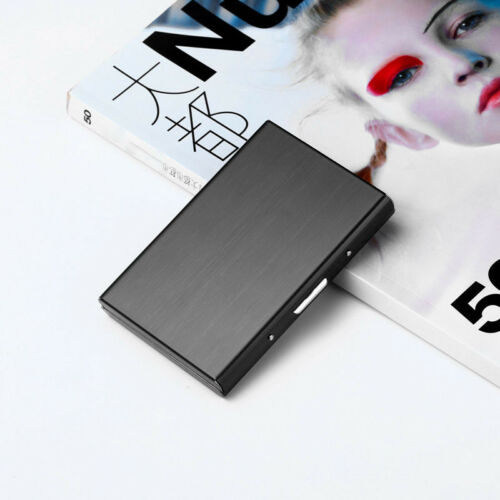 Black Metal PU Pocket Business ID Credit Card Wallet Holder Waterproof Case Box