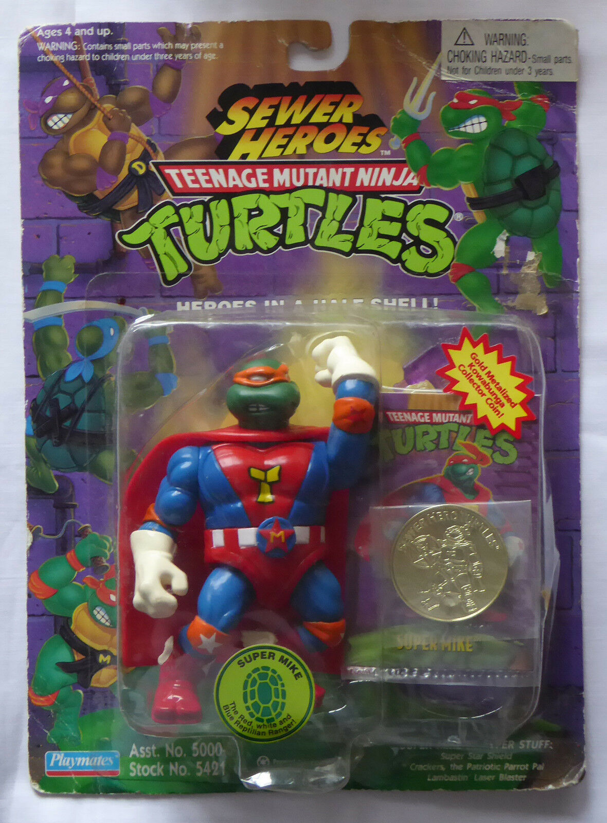 1994 TMNT Teenage Mutant Ninja Turtles figure Super Mike - MISB