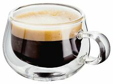 JUDGE Double Walled Espresso/Coffee Glasses 75ml - Set of 2. Insulated, Hot&Cold