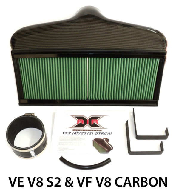 Commodore VE S2 & VF V8 CAPA X-Air OTR Cold Air Intake Induction - Carbon Fibre