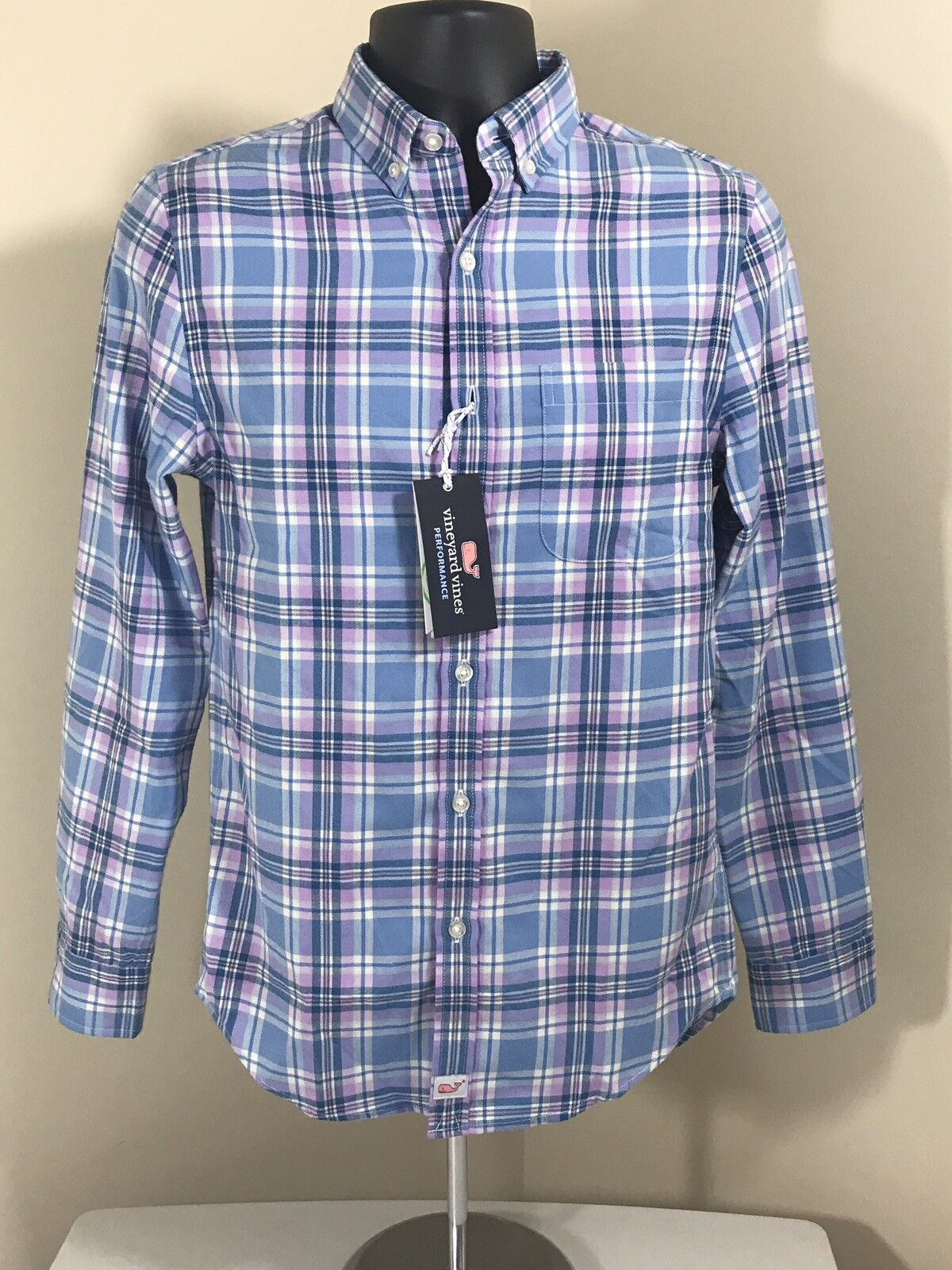 Vineyard Vines Slim Fit Ocean Walk Plaid Long Sleeve Shirt