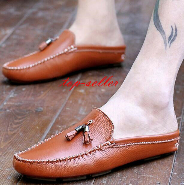 Moccasins men soft leather all-match loafer slipper Driving casual slip on shoes