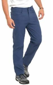 Eddie Bauer Mens Adventure Trek Pants Stretch Water Resistant Indigo Blue 38X30