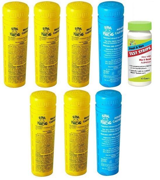 Free 2-3 Giorno Spa Rana Kit 7 5 Pezzi Bromine & 2 Minerale W Strisce Reattive